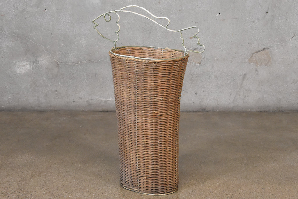 Frederick Weinberg Style Rattan Fish Basket