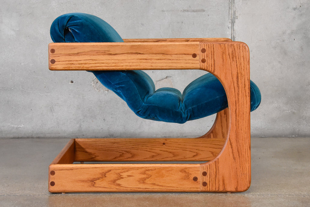 Cantilevered Oak Lounge chair by Lou Hodges