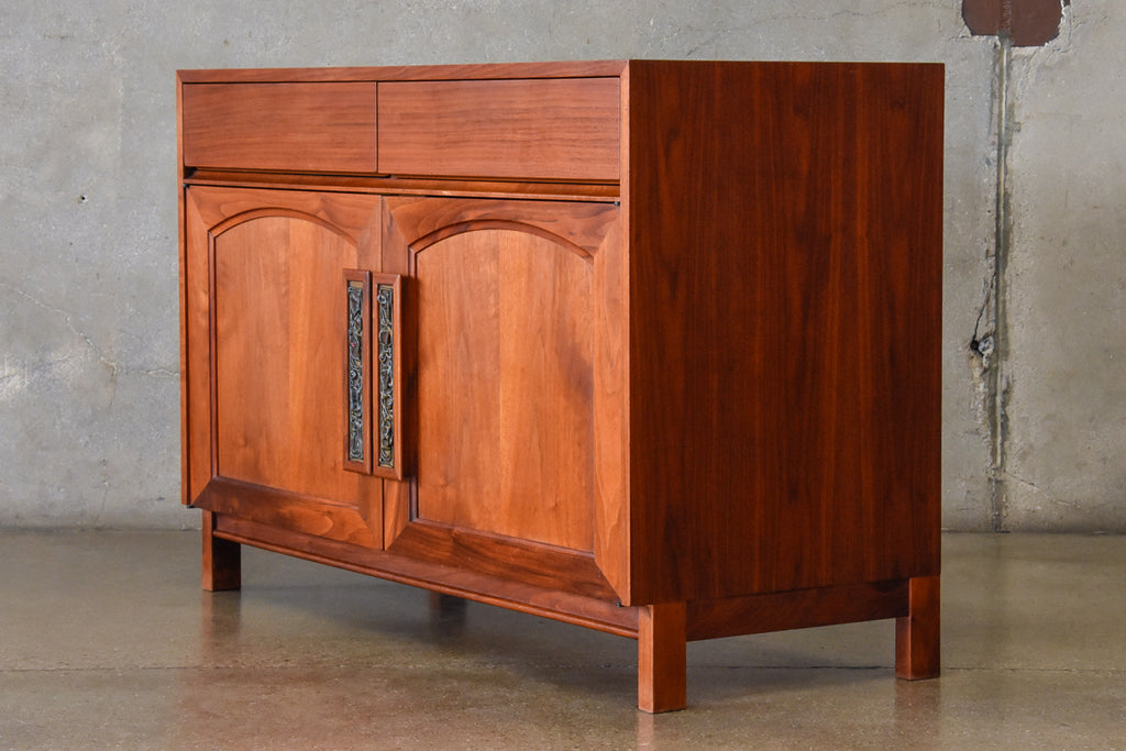 Small Walnut credenza by John Keal for Brown Saltman