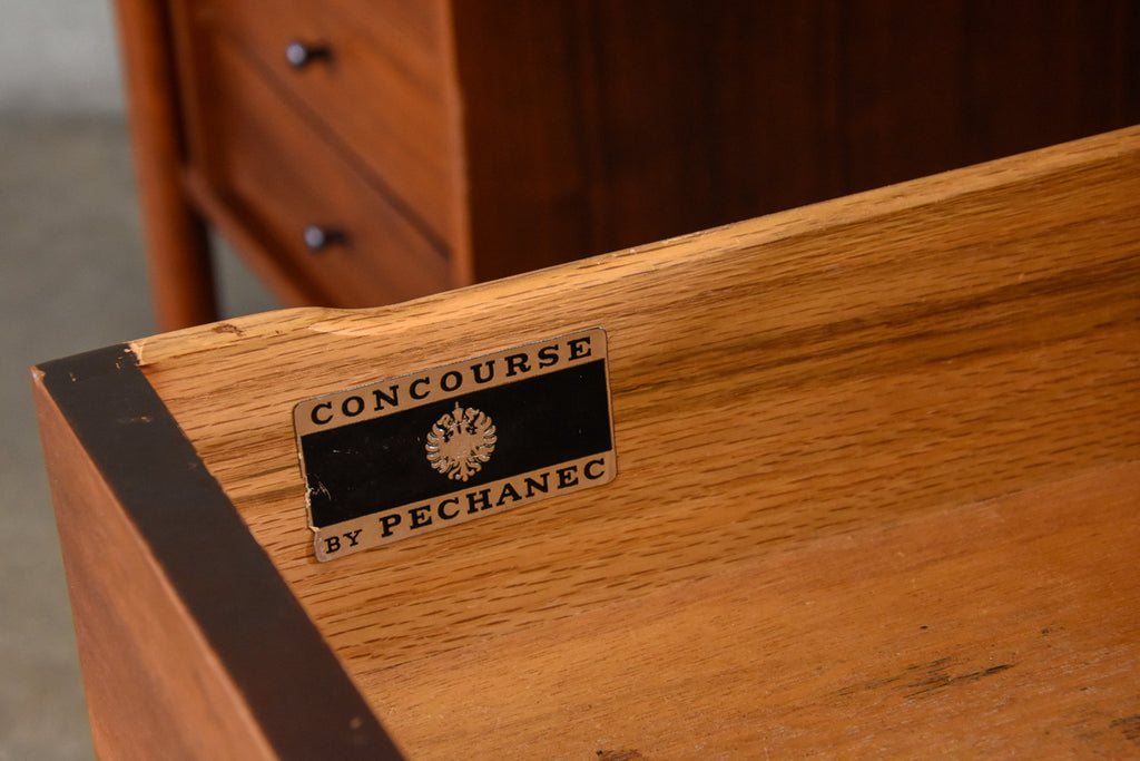 Concourse Collection Walnut Desk by Charles Pechanec