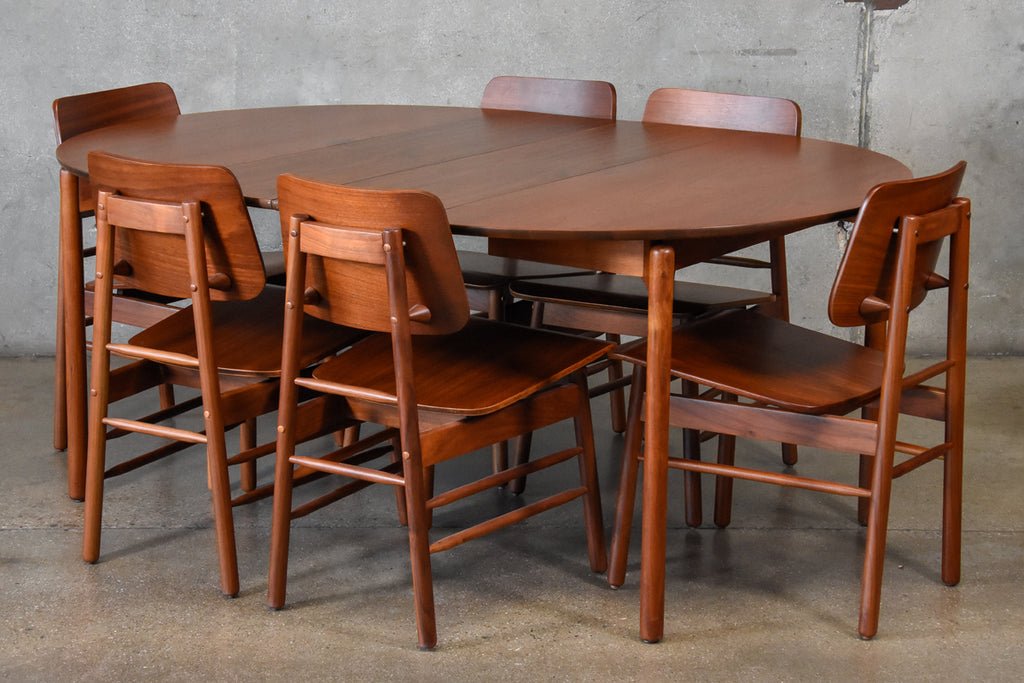 Greta Grossman Walnut Dining Set