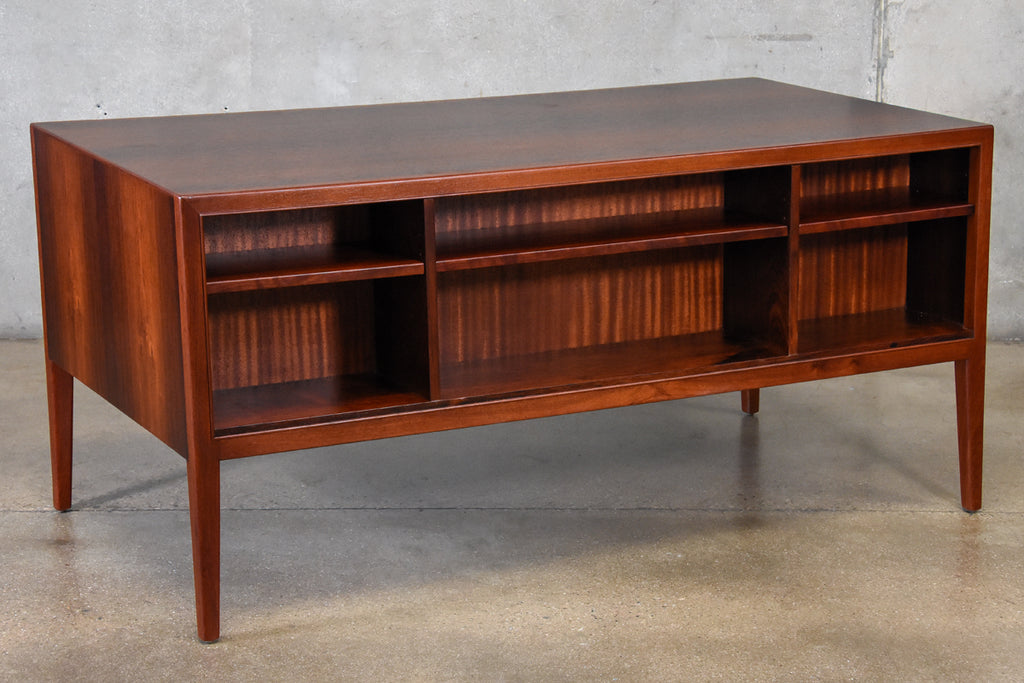 Danish Rosewood and Mahogany Executive Desk