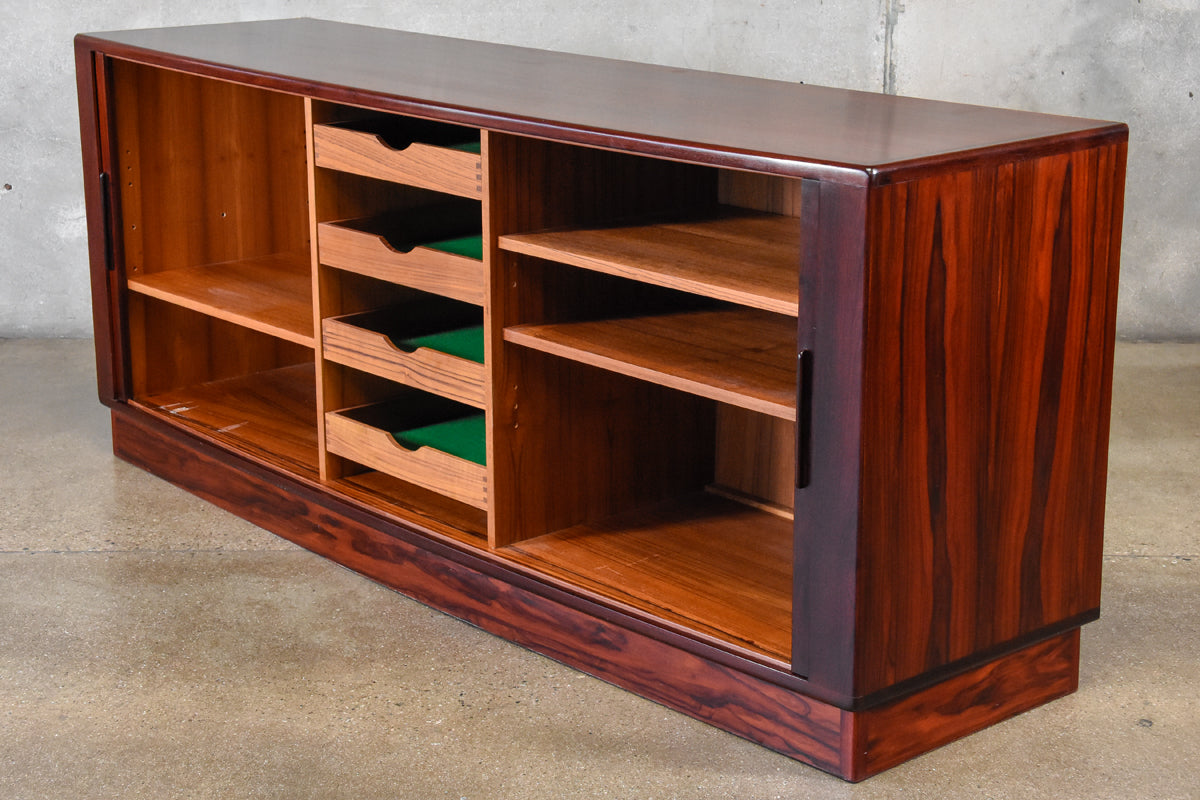 Danish Credenza Los Angeles : Danish tambour door rosewood credenza arroyo artifacts