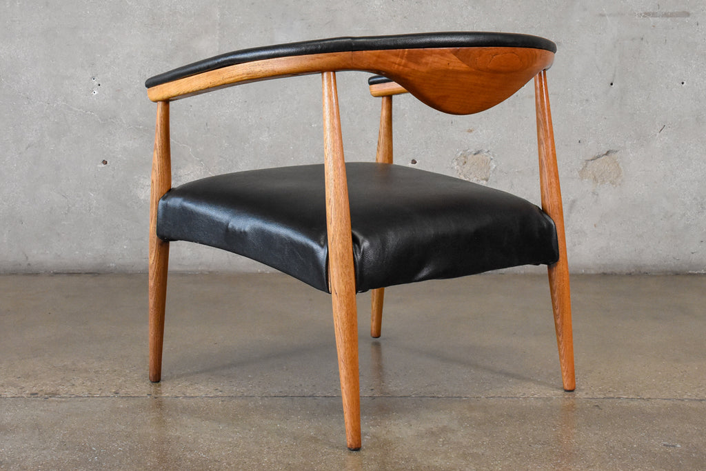 Hans Wegner Style Rounded Lounge Chair