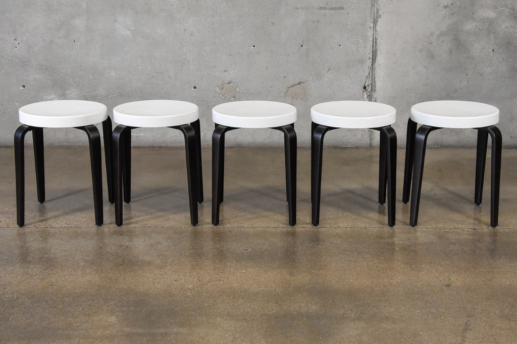 Set of Five Bakelite Stacking Stools by Thonet