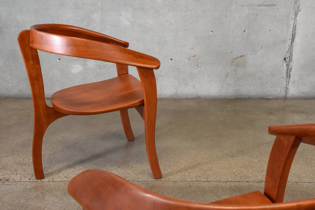Pair of Studio Craft Lounge Chairs by Ken Fettkether