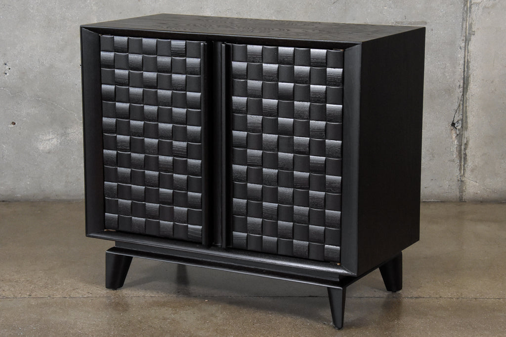 Ebonized Oak 'Basketweave' Cabinet by Paul Laszlo
