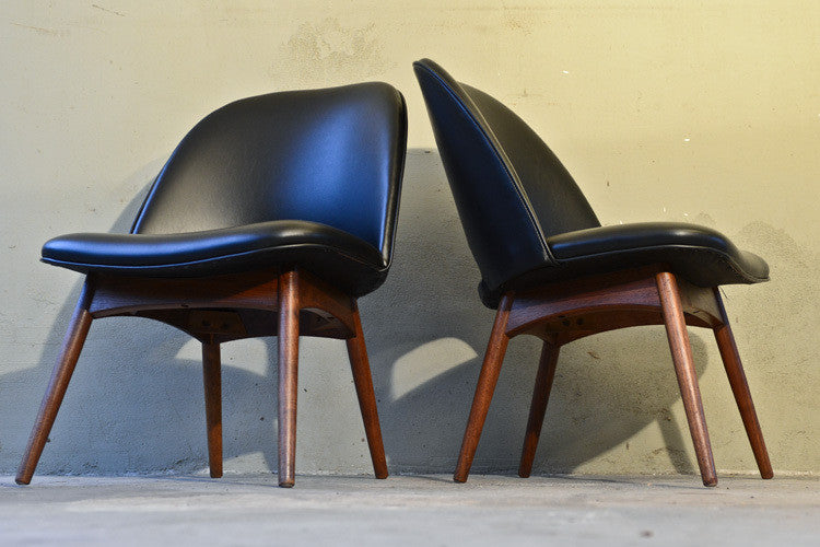 Pair of Adrain Pearsall Scoop Chairs