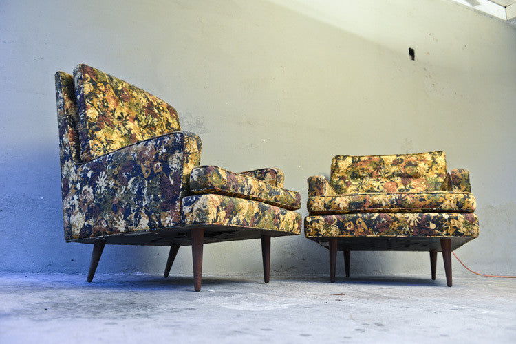 Pair of Milo Baughman for James Inc Lounge Chairs