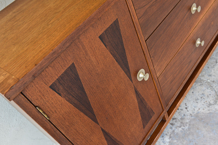 Stanley Walnut and Rosewood Credenza