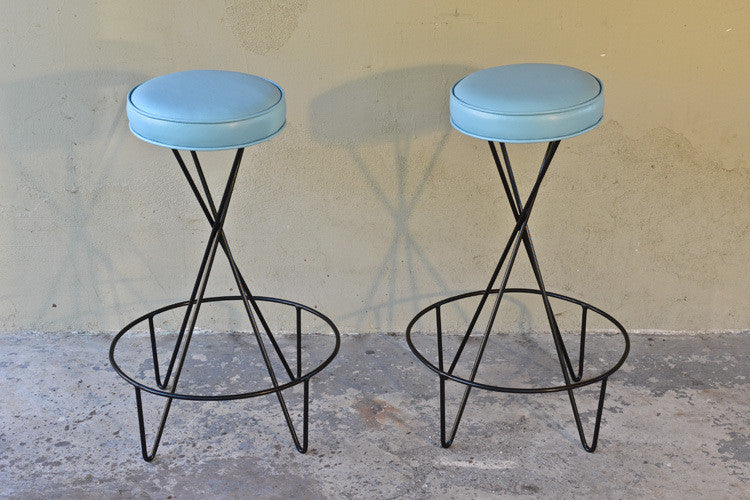 Pair of Paul Tuttle Hairpin Barstools