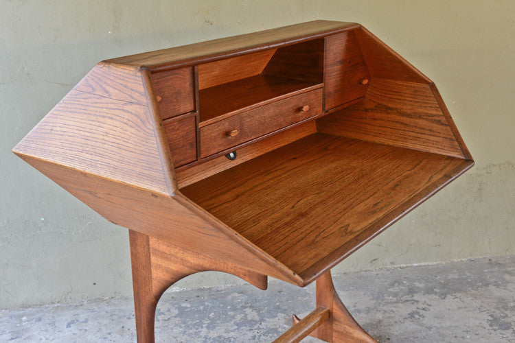 Sepctacular Studio Craft Mid Century Oak and Walnut Desk