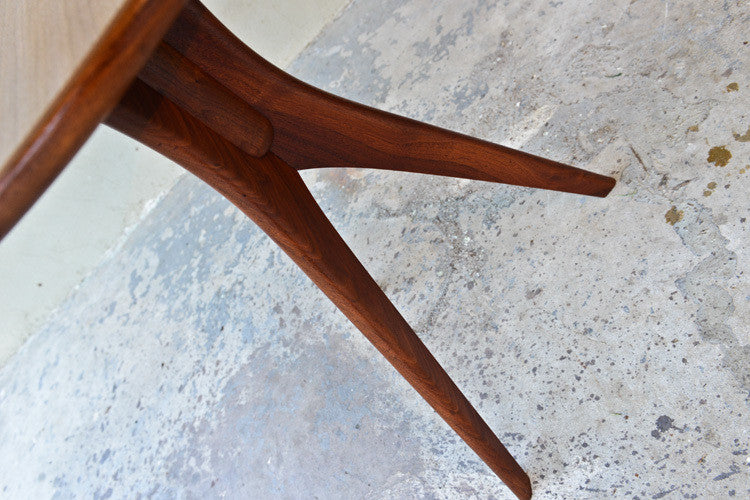 Beautiful Sculpted Walnut Side Table
