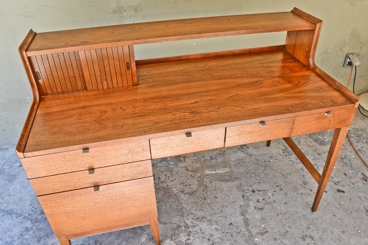 Stunning Walnut Desk by Cavalier