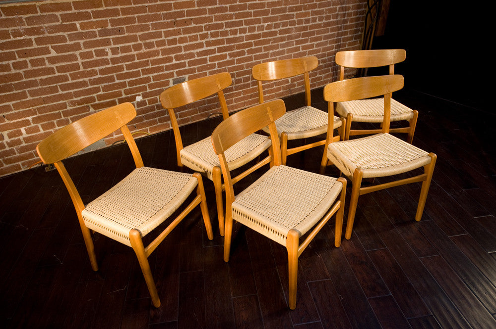 Set of Six Hans Wegner CH23 Dining Chairs