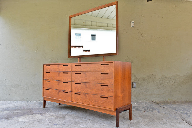 William Watting Danish Teak Dresser with Mirror