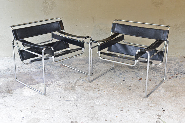 Pair of Authentic Knoll Wassily Chairs