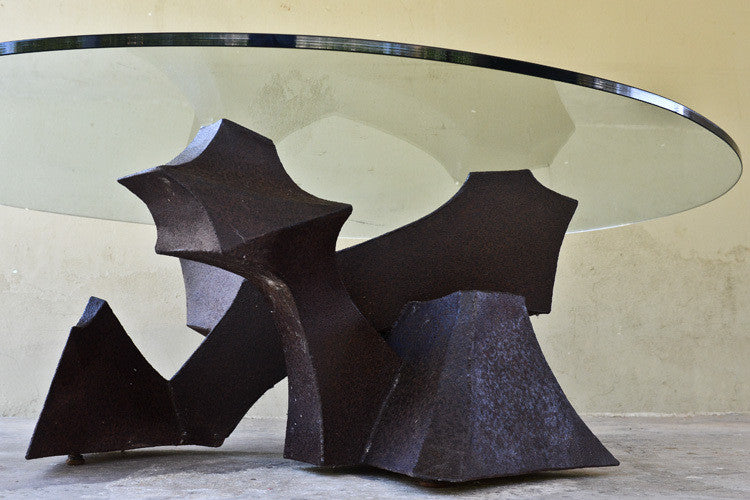 Welded Steel Brutalist Coffee Table