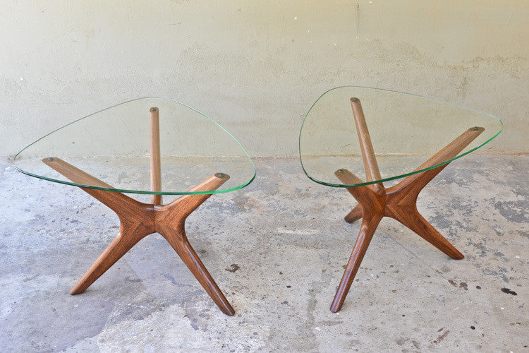 Pair of Adrian Pearsall Tri-Symetric Side Tables