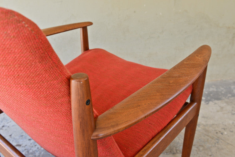 Grete Jalk Teak Lounge Chair for France and Sons