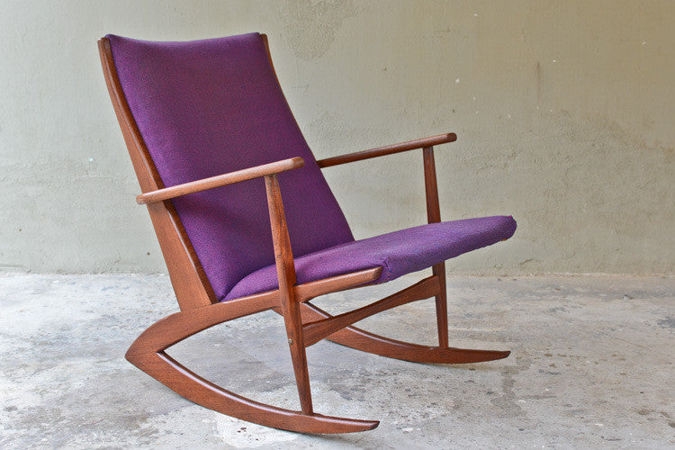 Danish Teak Rocking Chair by Georg Jensen for Kubus
