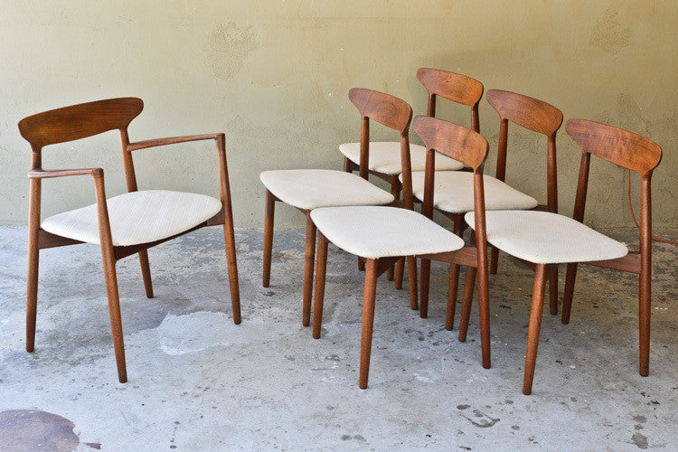 Set of Six Kurt Ostervig Dining Chairs