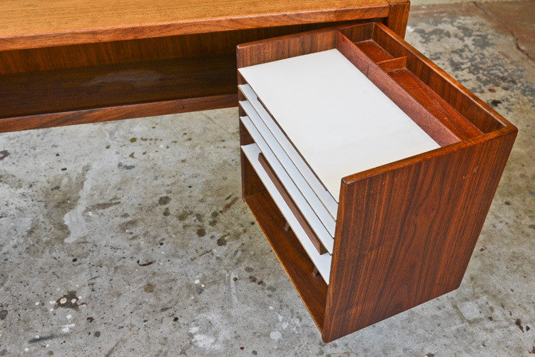 Jens Risom Walnut Executive Desk