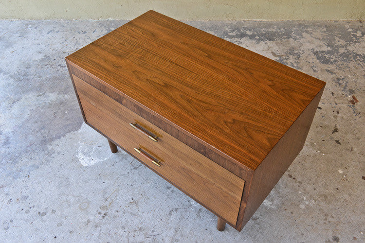 Small Walnut Two Drawer Chest by Kalpe