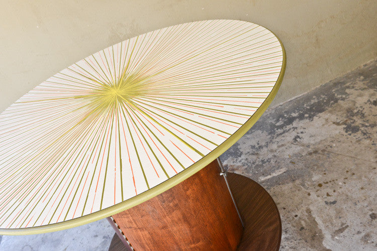 Incredible Mid Century Round Bar Table