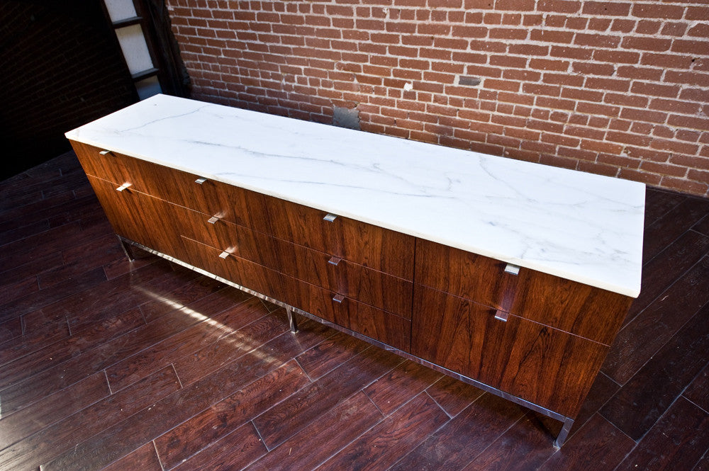 Florence Knoll Rosewood & Marble Credenza
