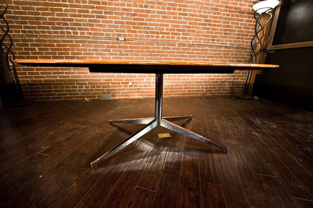 Florence Knoll Rosewood Oval Dining / Conference Table