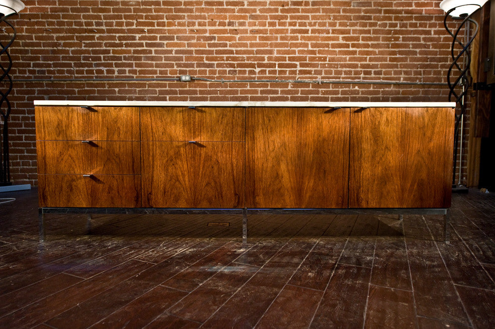Knoll Rosewood & Marble Credenza