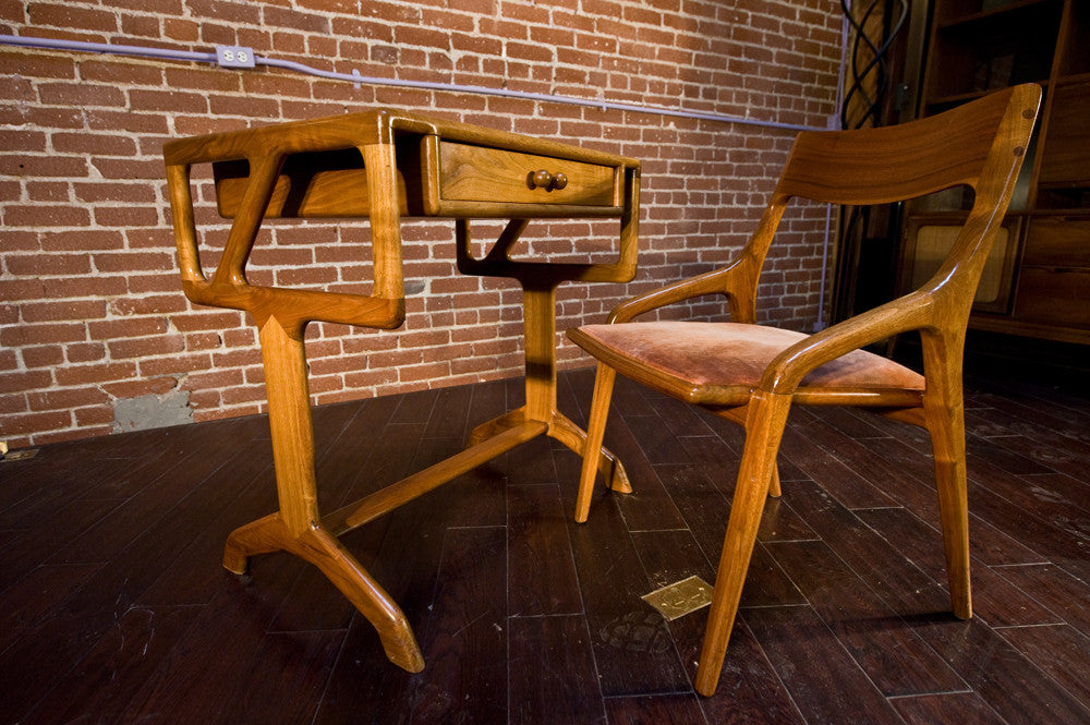 ... Incredible Sam Maloof Style Walnut Desk and Chair ...