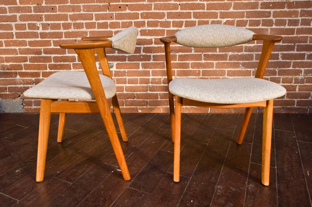 Pair of Danish Teak Side Chairs by Erik Kirkegaard