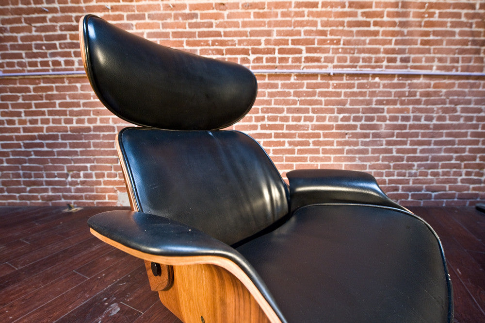 George Mulhauser for Plycraft Mr. Chair and Ottoman