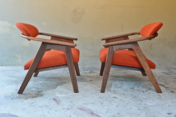 Pair of Adrian Pearsall '916-cc' Captains Chairs