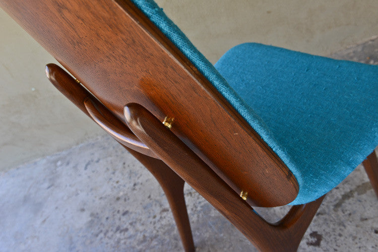 Arne Hovmand Olsen High Back Danish Teak Desk Chair