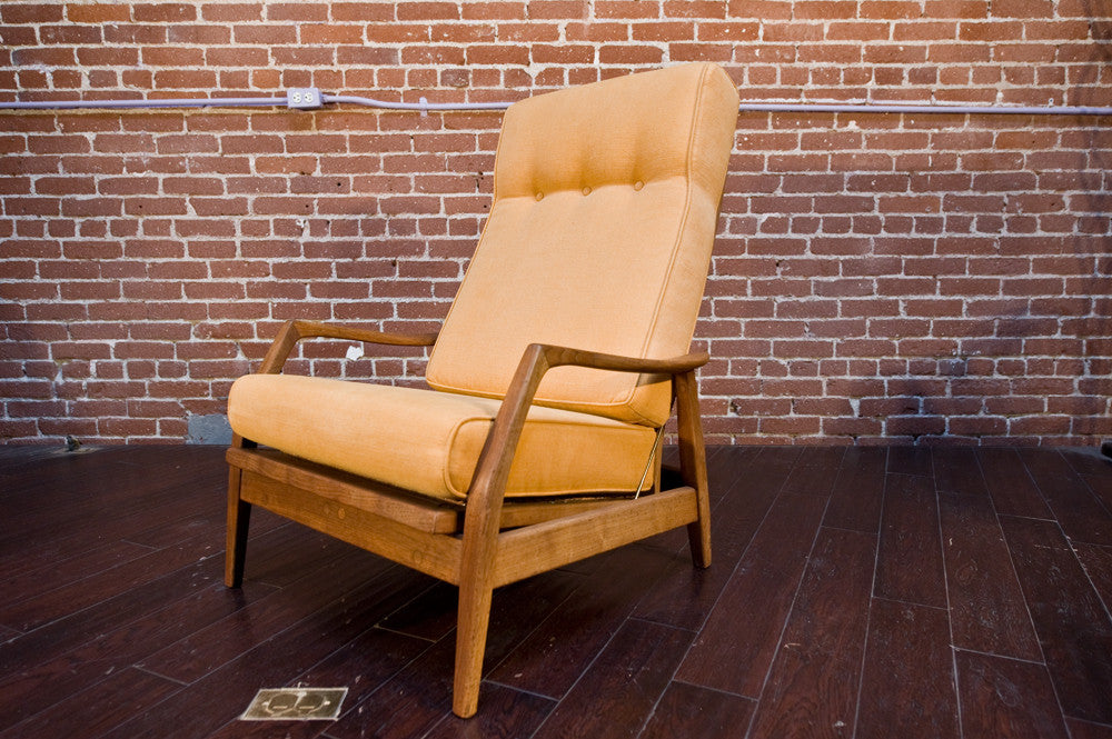 Milo Baughman High Backed Lounge Chair