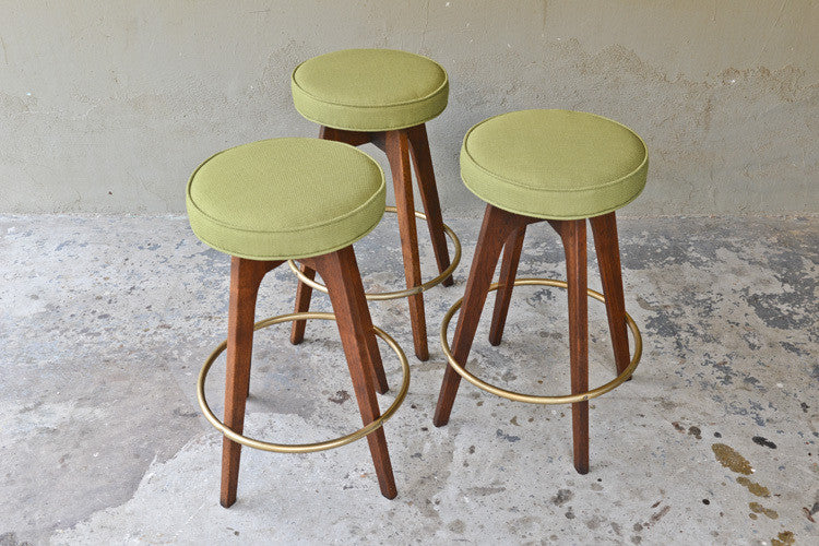 Set of Three Chet Beardsley Bar Stools