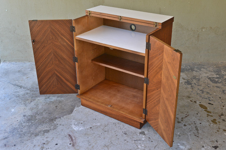 Sweet Little Walnut Bar Cabinet