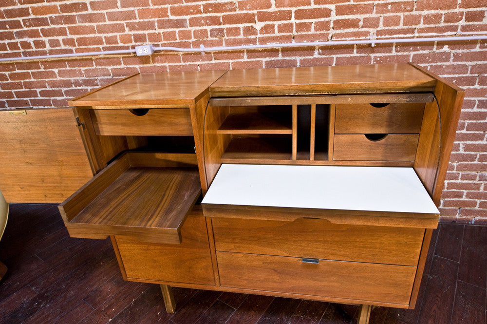 Mainline by Hooker Walnut Secretary Desk
