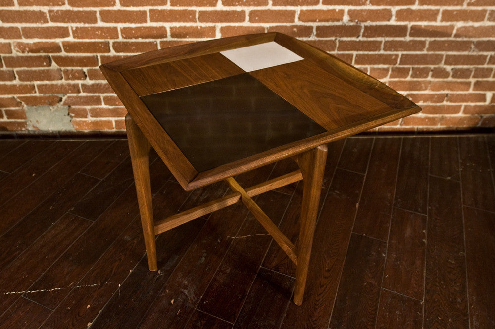 Incredibly Unique John Keal for Brown & Saltman Walnut Side Table