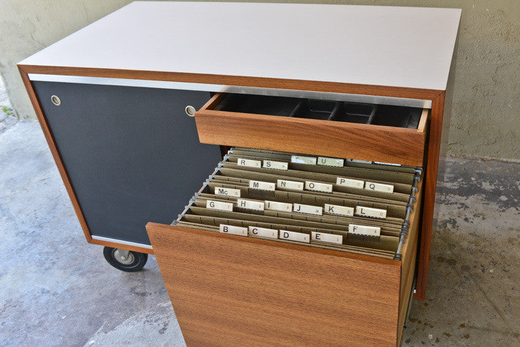 ... George Nelson For Herman Miller Rolling Credenza / File Cabinet ...