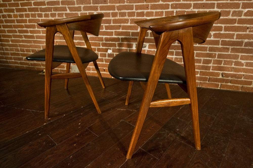 Set of Six Eric Kirkegaard Compass Dining Chairs in Teak