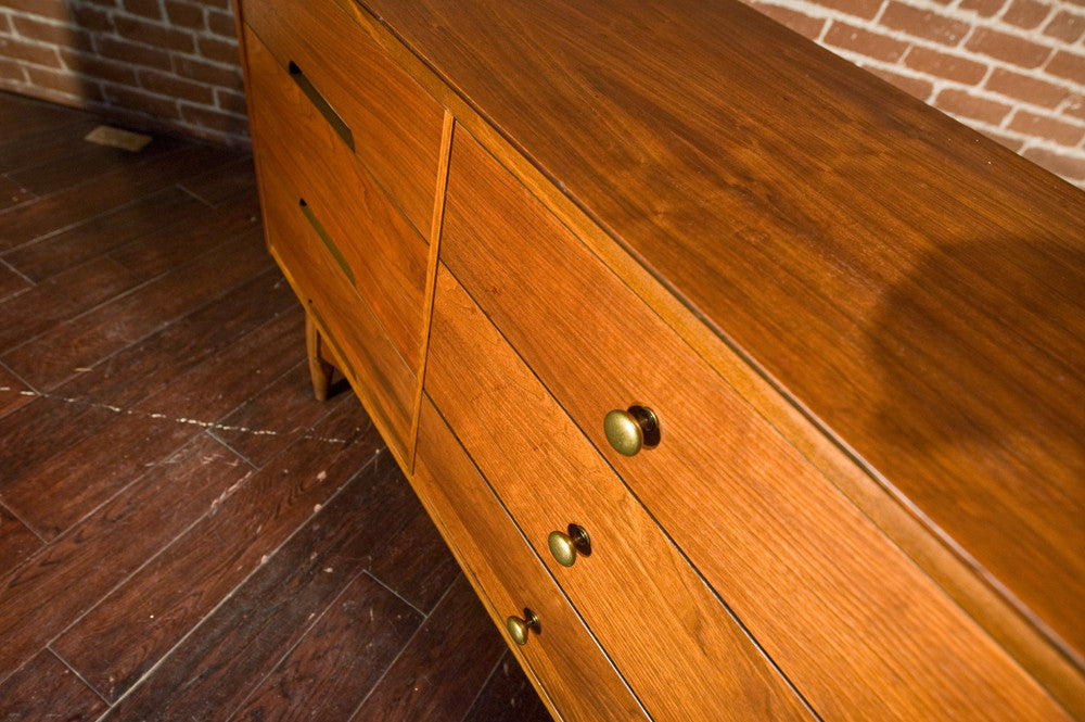 Vega by Morris Walnut 9 Drawer Dresser