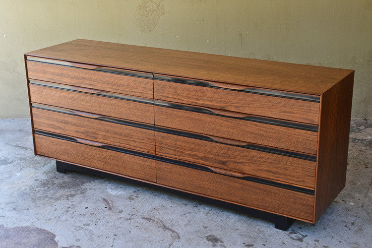 Walnut Eight Drawer Dresser by John Kapel for Glenn of California