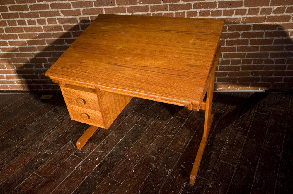 Awesome Danish Teak Drafting Desk