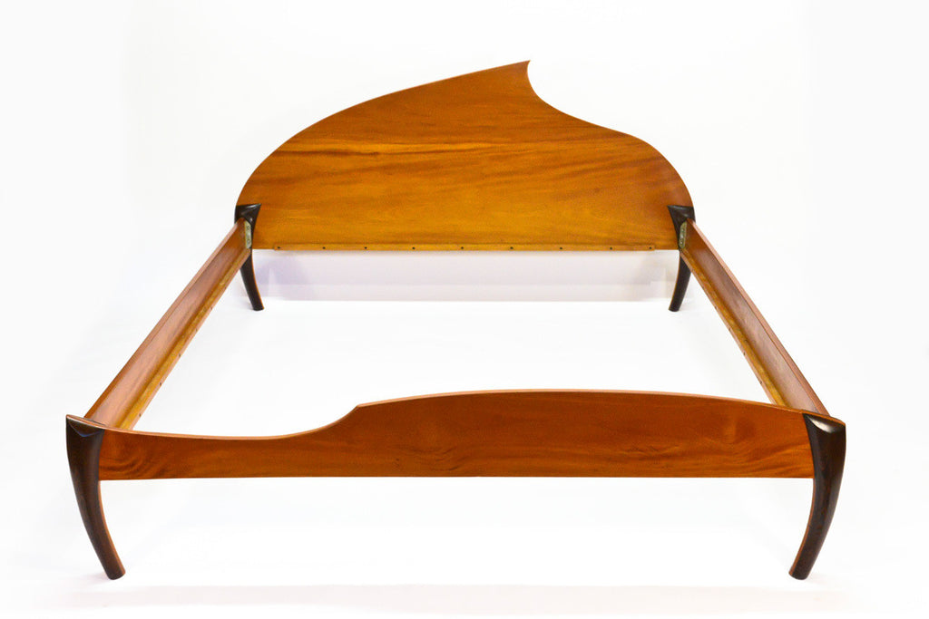 Stunning One of a Kind Sculptural Bed Frame