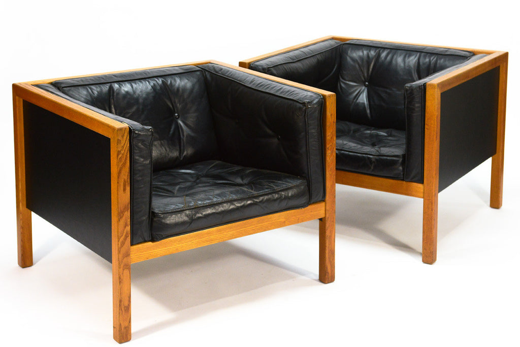 Pair of George Nelson Cube Series Chairs