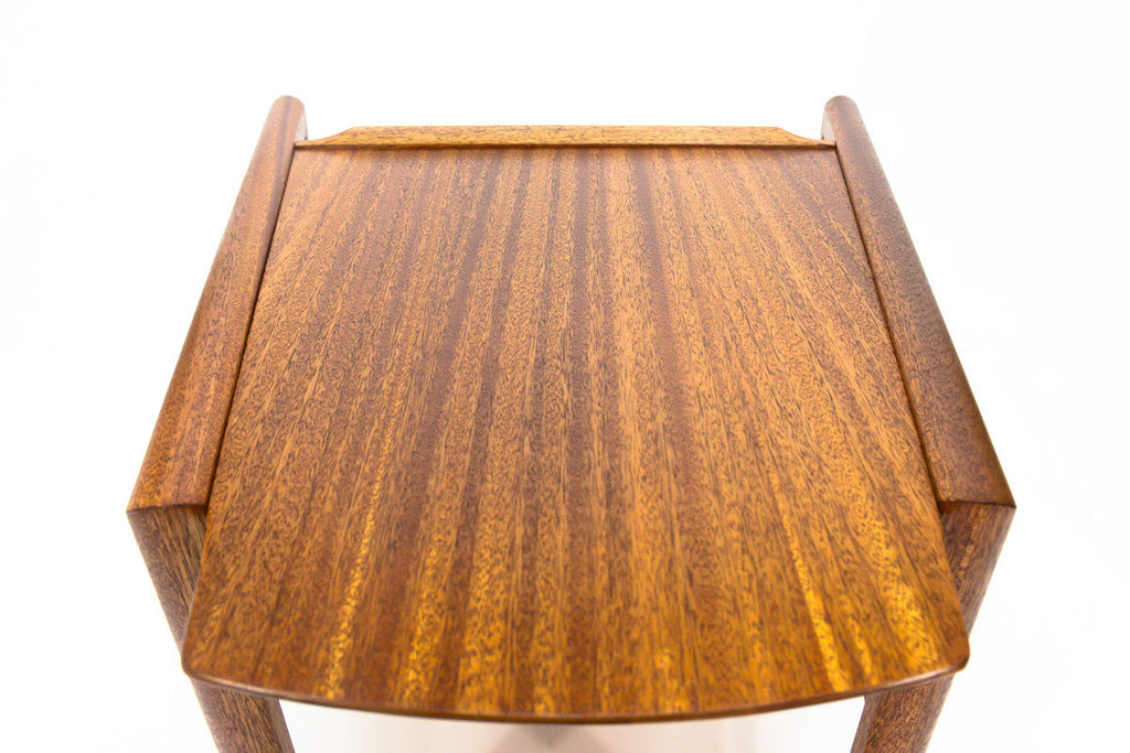 Mahogany Wedge Table Designed by John Keal for Brown Saltman